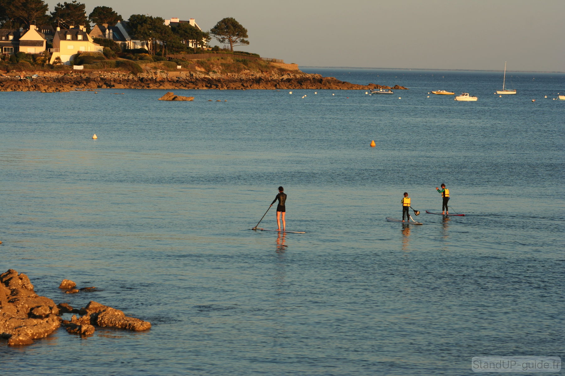 Sortie stand up paddle en famille